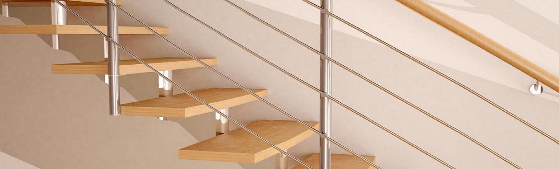 Лестницы из массива дуба и сосны