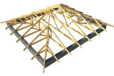 Четырехскатная стропильная крыша