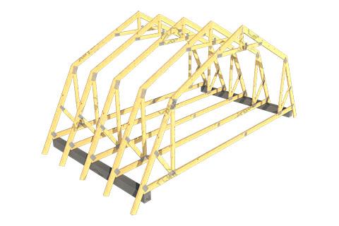 Ломаная стропильная крыша