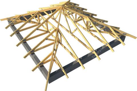 Шатровая стропильная крыша